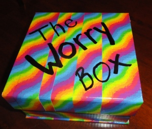 The outside of The Worry Box.