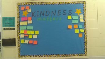 Kindness matter board before