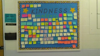 Kindness matters bulletin board