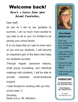 Office – The School Counselor Kind
