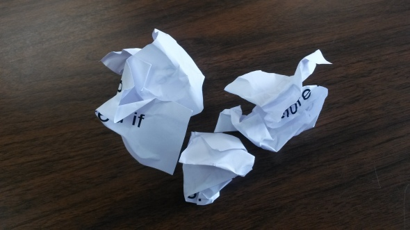 Crumpled Mindset Statements